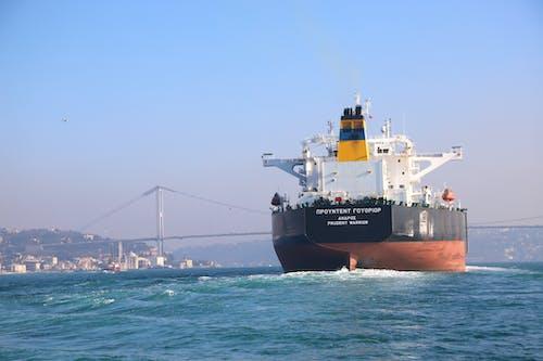 Free stock photo of bridge, earth movers, Istanbul, sea vessels