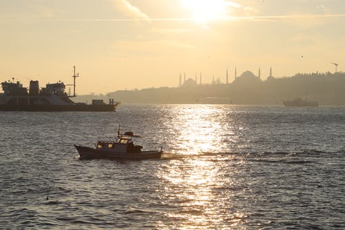 Free stock photo of evening sun, fisherman, golden sun, Istanbul