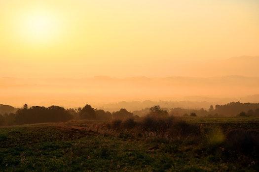 Free stock photo of landscape, mountains, sun, sunrise