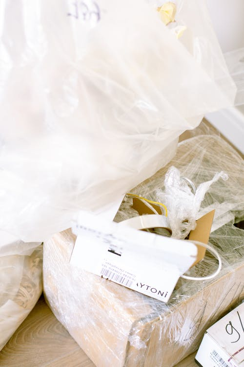 Boxes  Wrapped With Plastic Bag