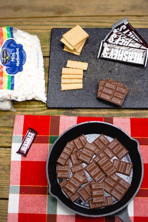 Dark Chocolate in Frying Pan