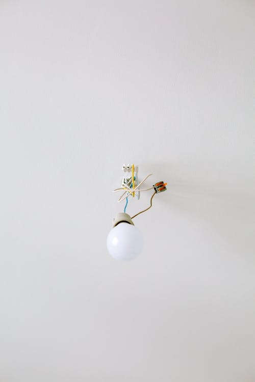Low Angle Shot of a Light Bulb