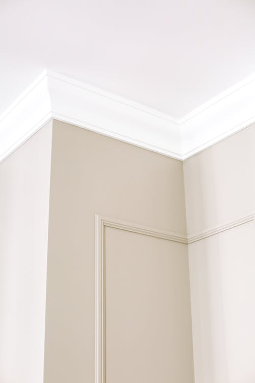 Gray Walls and White Ceiling