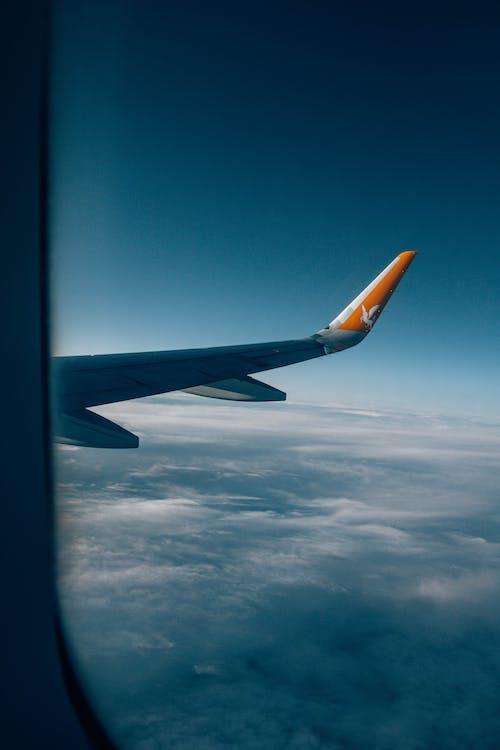 Foto d'estoc gratuïta de ala, ala d'avió, ala de l'avió, alt