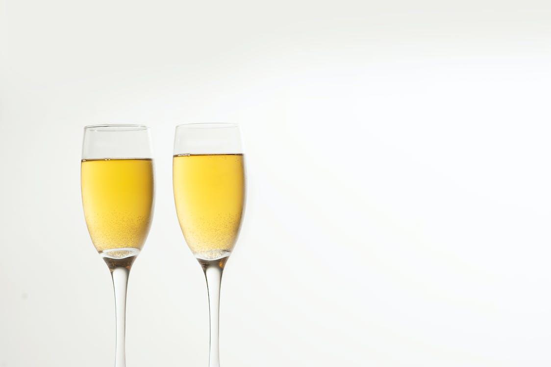 gelas sampanye, kaca, minuman