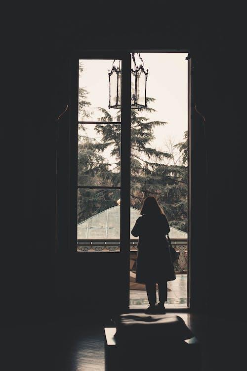 คลังภาพถ่ายฟรี ของ การยืน, คน, ซิลูเอตต์, ทางเข้าประตู