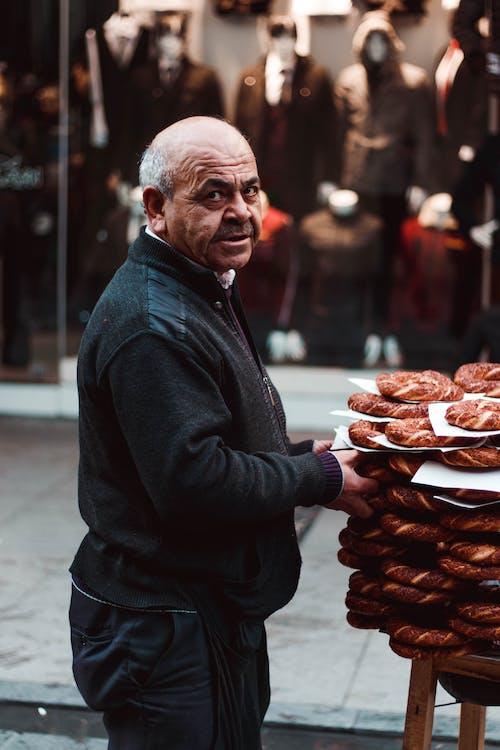 おとこ, パン, フード, 人の無料の写真素材