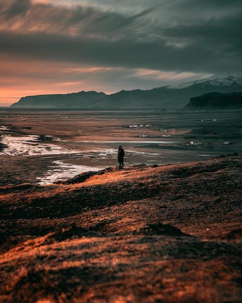 Person Standing Near the Sea