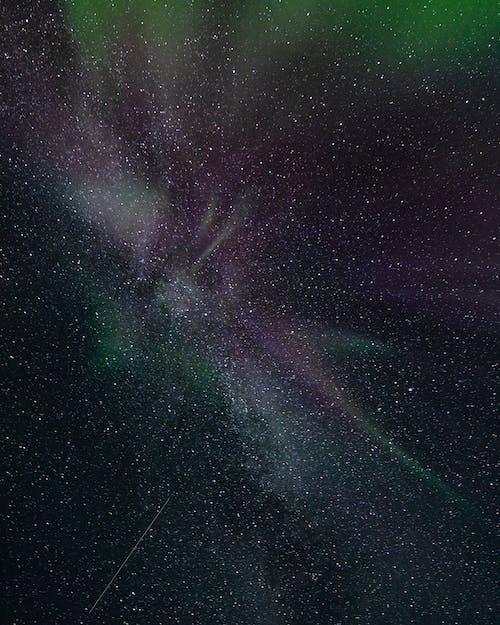 Papel De Parede De Galáxia Em Preto E Branco