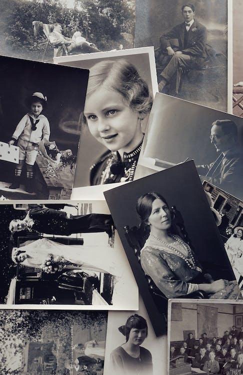 Kostenloses Stock Foto zu alte fotos, bilder, einfarbig