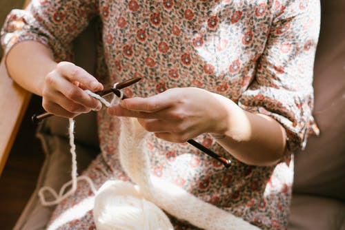 Photo of Woman Doing Crochet