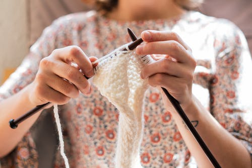 Person Doing Crochet