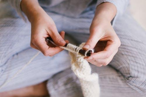 Fotos de stock gratuitas de afición, algodón, artesanía, calceta