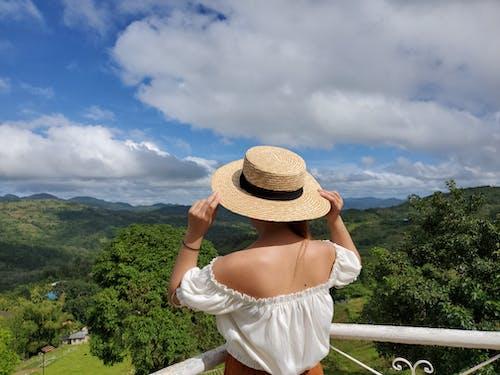 Free stock photo of beach hat, beatiful landscape, beautiful sky, beautiful view