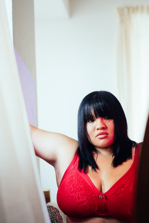 Photo Of Woman Wearing Red Bra