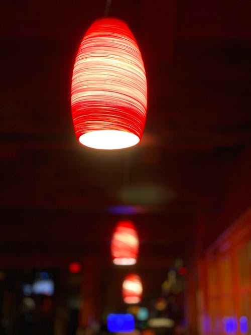 Free stock photo of #mobilechallenge, artificial lighting, blurred background, ceiling lamp