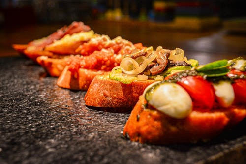 Free stock photo of bruschetta, fingerfood, flavor, food