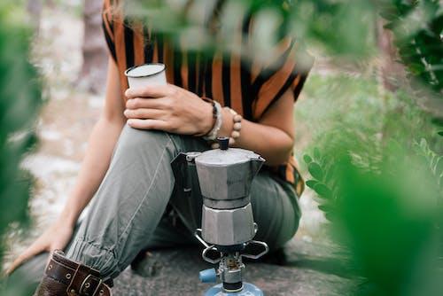 おいしい, カップ, カフェイン, キャンピングの無料の写真素材