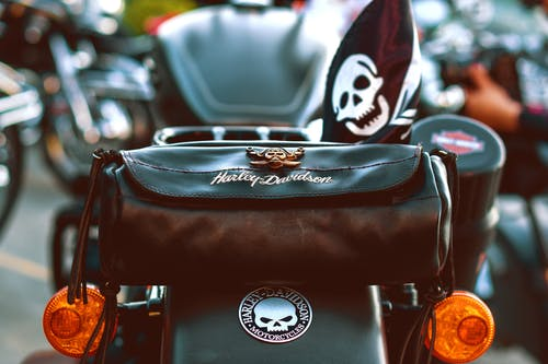 Free stock photo of bag, harley davidson, motorcycle