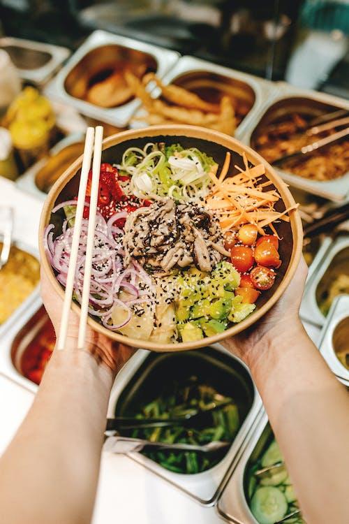 Gratis stockfoto met avondeten, chilipeper, chopsticks, eetcafé