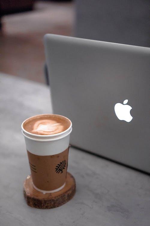 Free stock photo of coffee, macbook pro