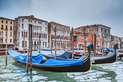 Free stock photo of canal, gondola, italy