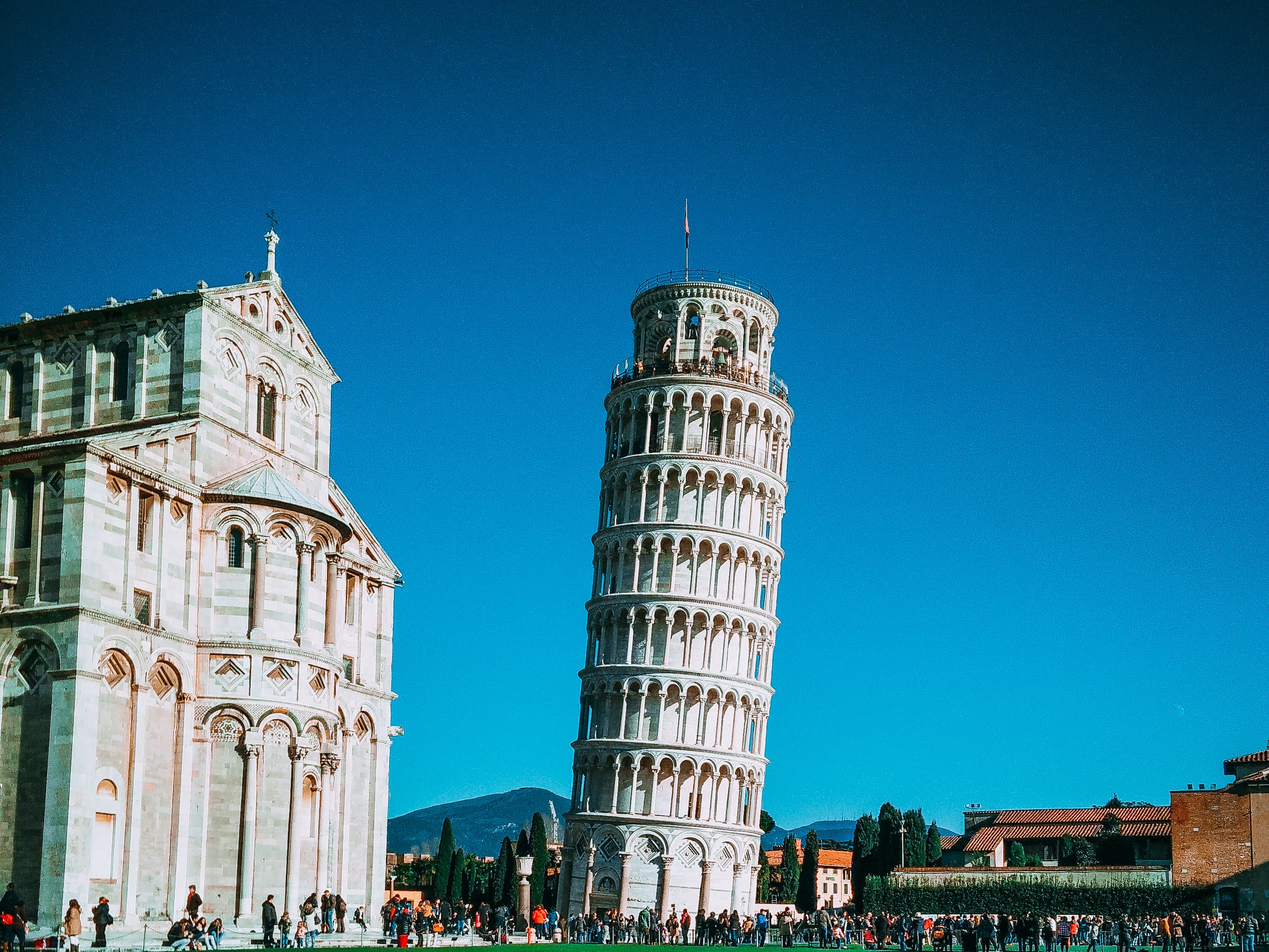 italy, leaning tower of pisa, pisa
