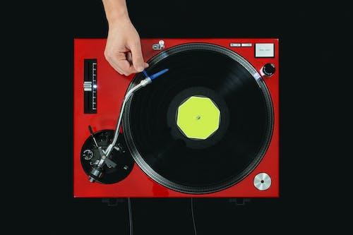 オーディオ, ターンテーブル, ディスク, ハンドの無料の写真素材