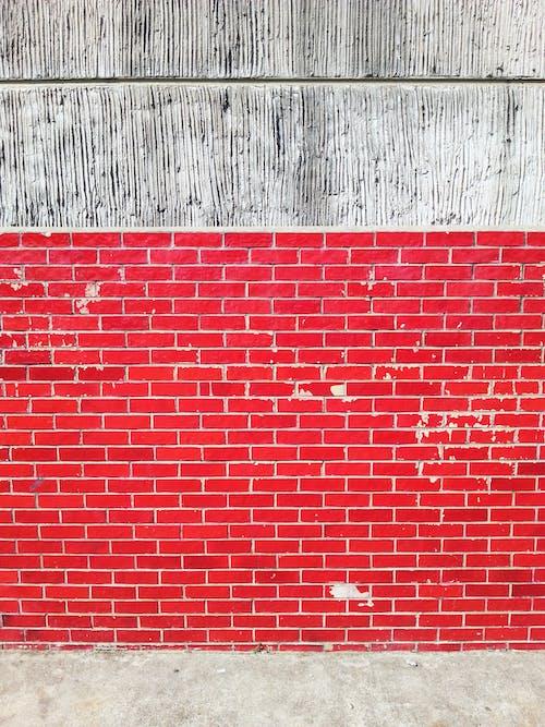 Gratis stockfoto met bakstenen muur, cement muur, contrasterende kleuren, kleurenbanden