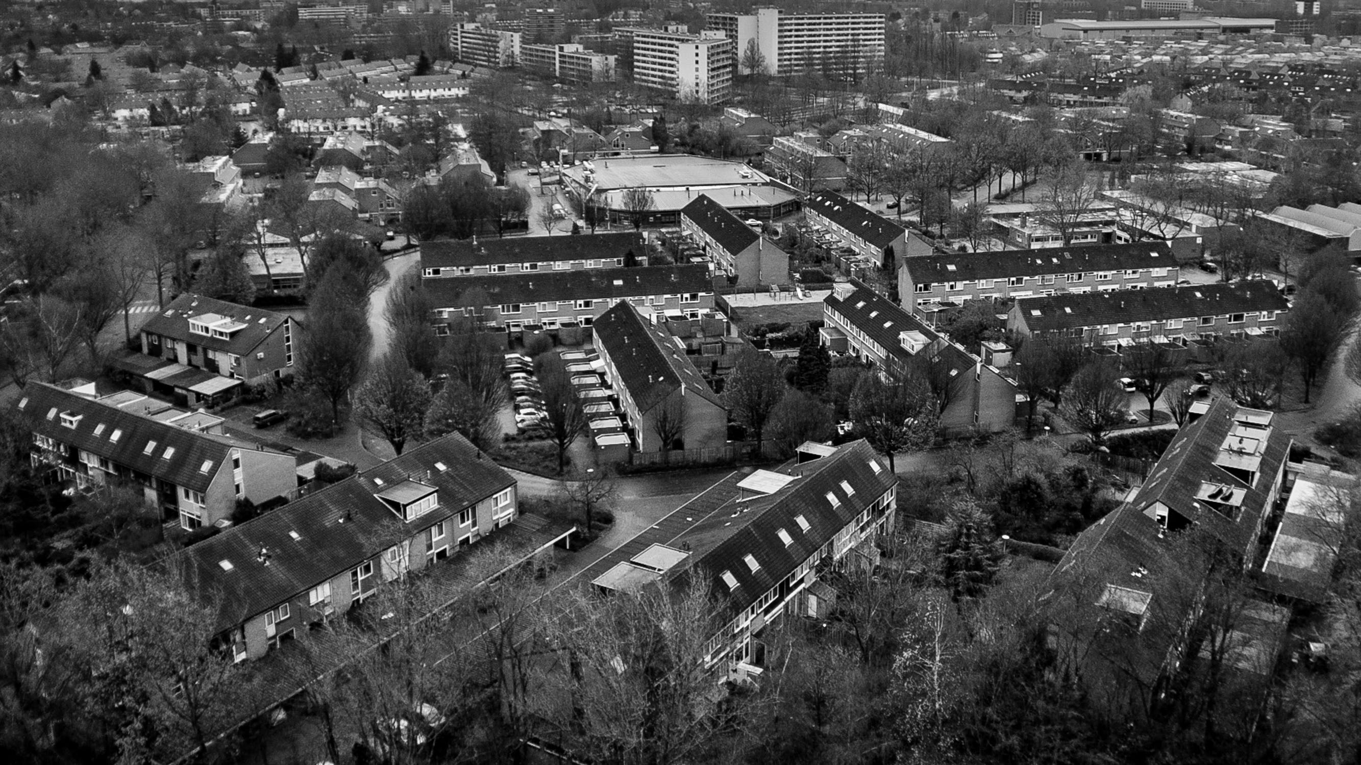 Free stock photo of black&white, cityscape, small town, winter