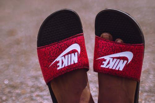 Free stock photo of nike, slides, slippers