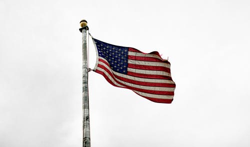 Foto d'estoc gratuïta de Administració, amèrica, Bandera nord-americana, cel