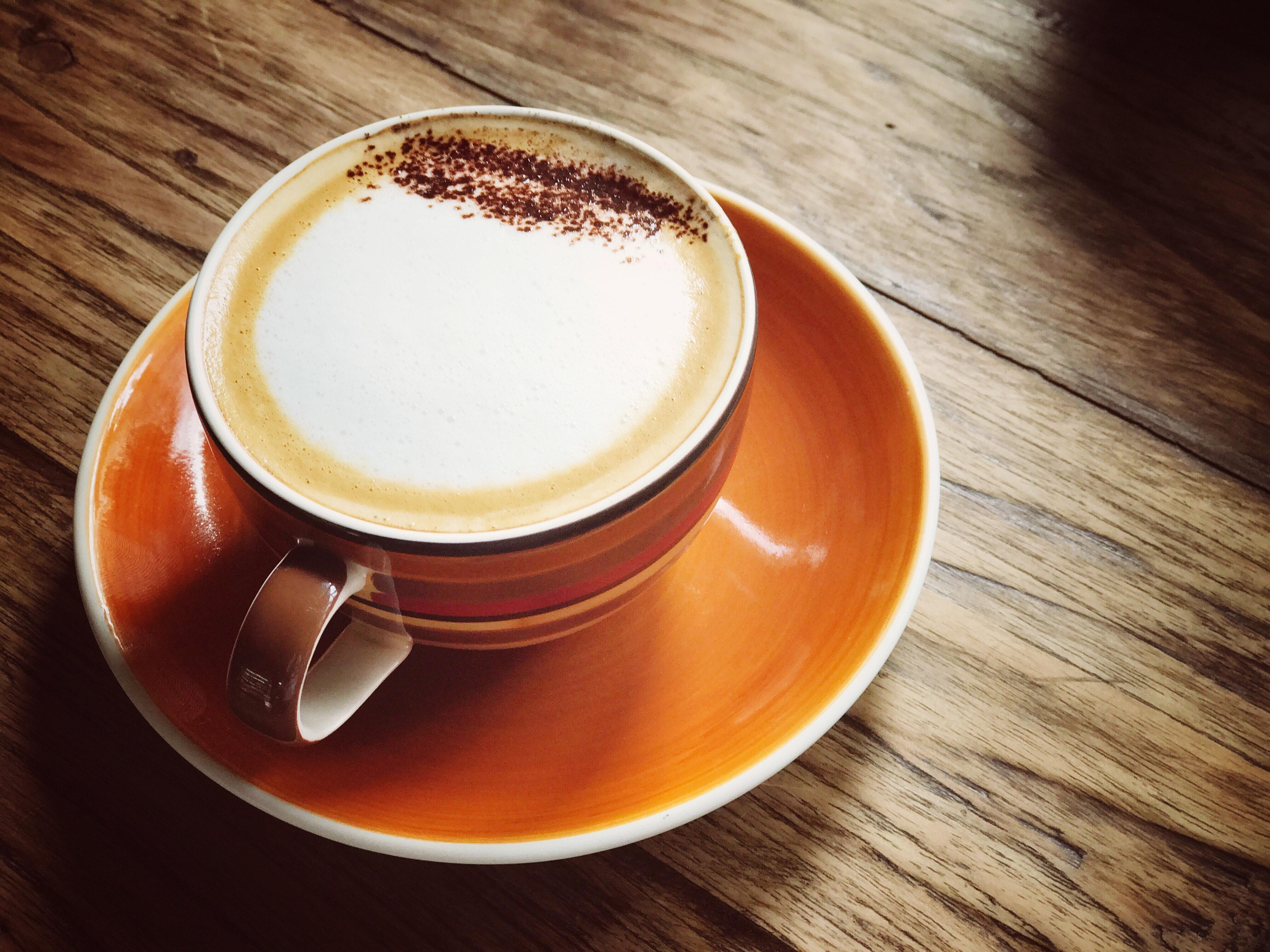 white cappuccino with swan cream design  u00b7 free stock photo