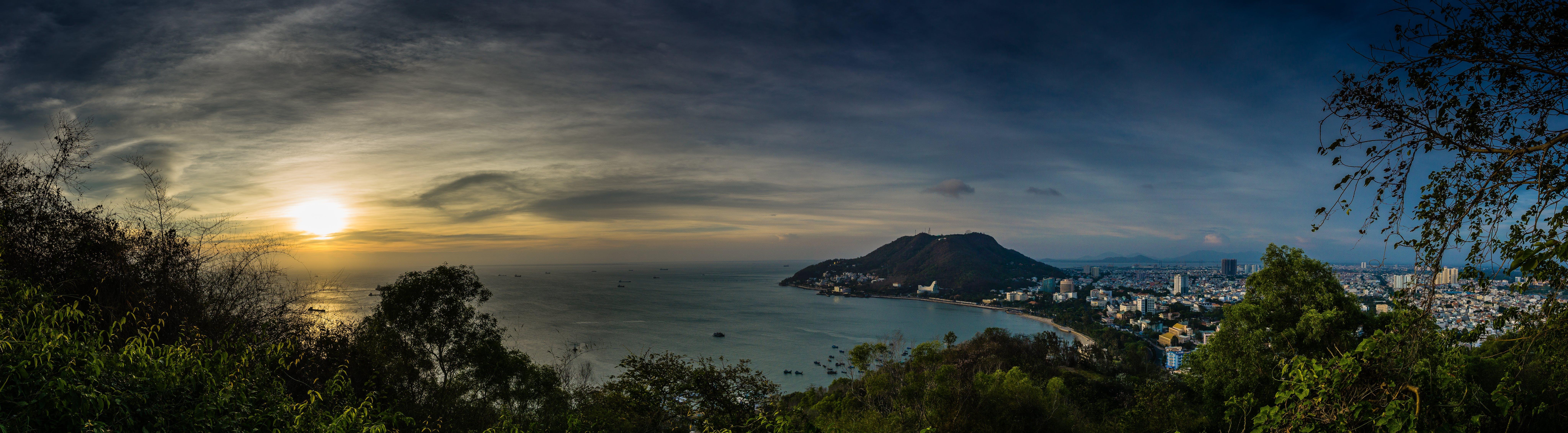 bay, beach, dawn