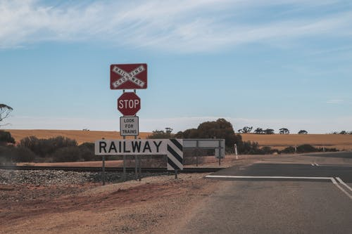 Railway line crossing