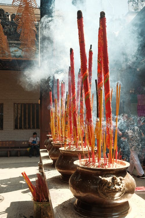 Close-up Photography of Incenses