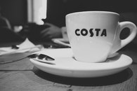 black-and-white, cup, mug
