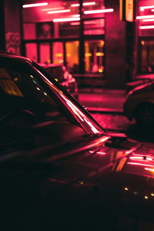 Free stock photo of blur, car, city, dark