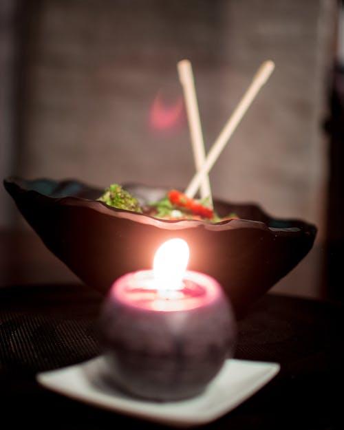 Free stock photo of bonsai, bowl, candle, japan