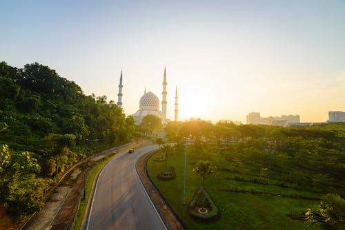 Photos gratuites de Malaisie, mosquée bleue