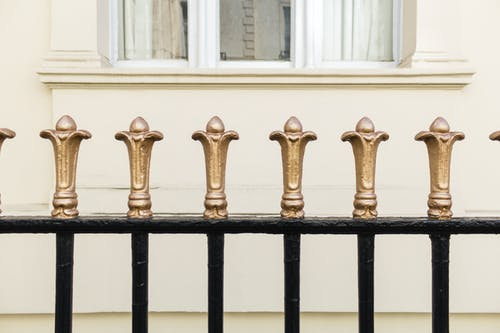 Free stock photo of fence, gate, gold, metal