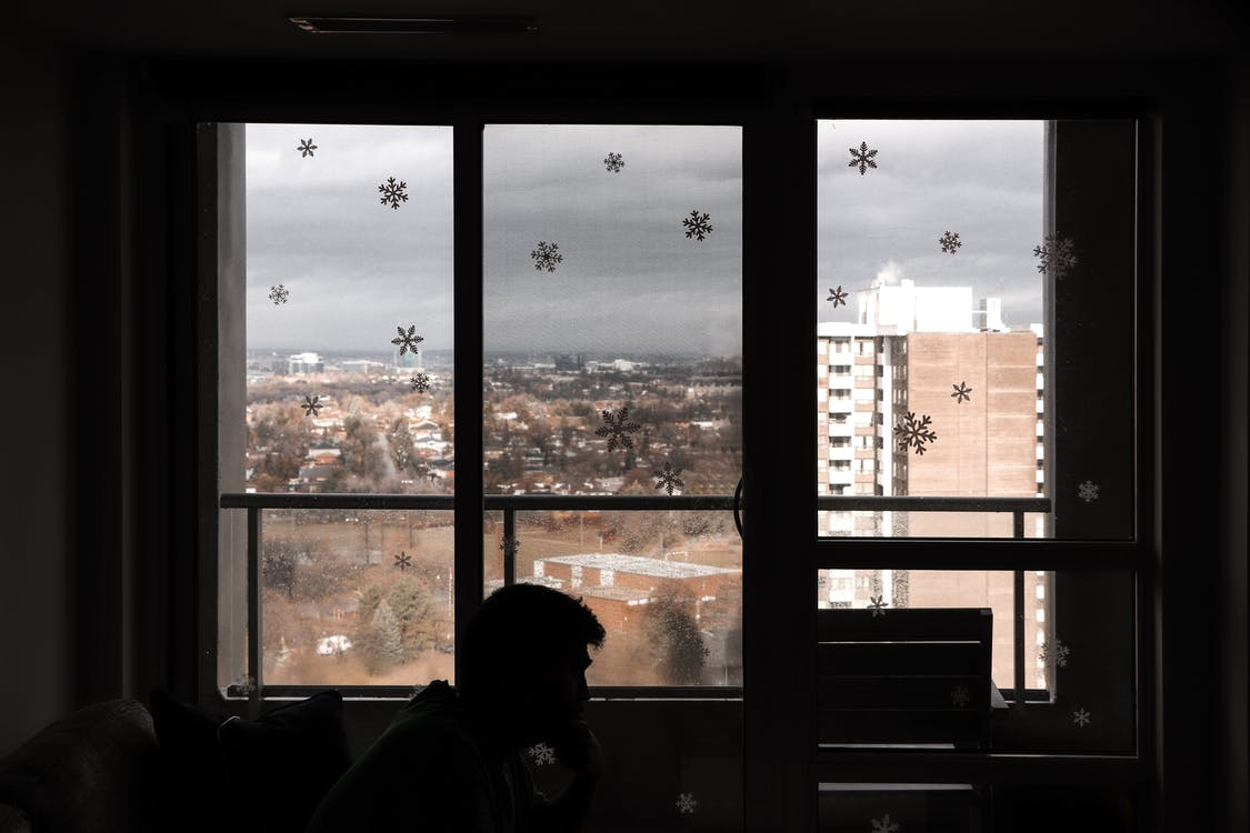 apartment, apartment window, baby it's cold outside