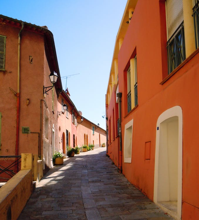 Free stock photo of colourful houses, old town, street