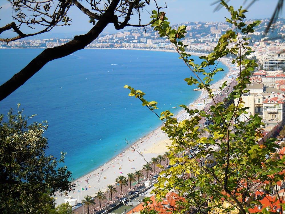 Free stock photo of blue bay, blue sea, france