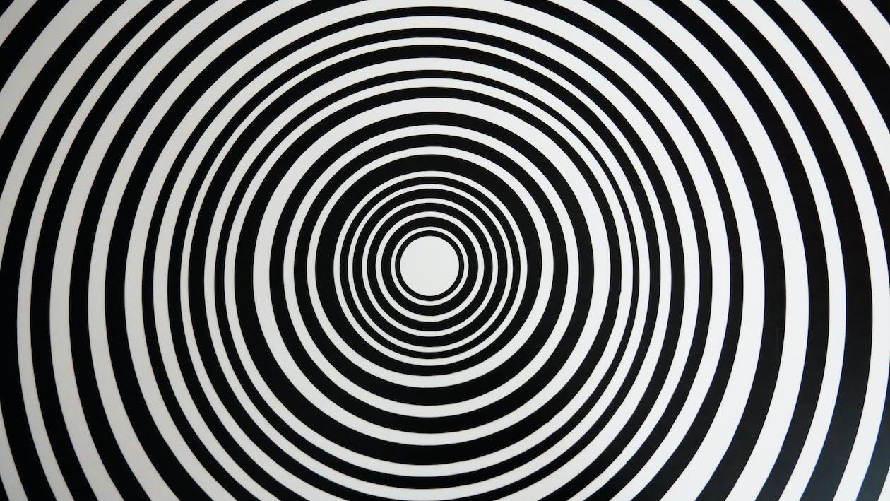 abstract, black, circles