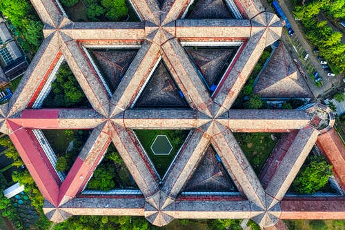 Abstract Architectural Aerial View