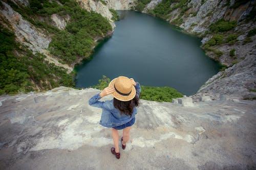 Imagine de stoc gratuită din bine, doamnă, lac, natură