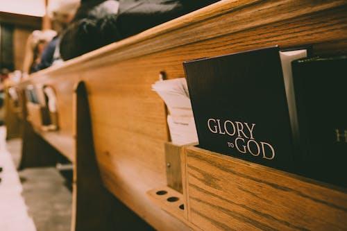 Foto stok gratis Alkitab, bangku, bangku gereja, buku-buku
