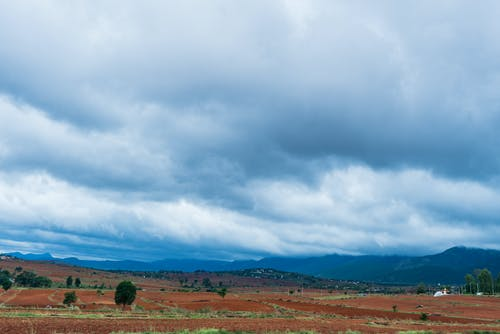 Free stock photo of blue sky, clouds, field