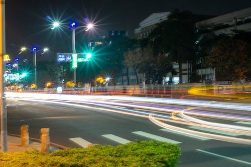 Free stock photo of car lights, kaohsiung, lights, night city